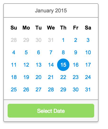 Scrolling Calendar
